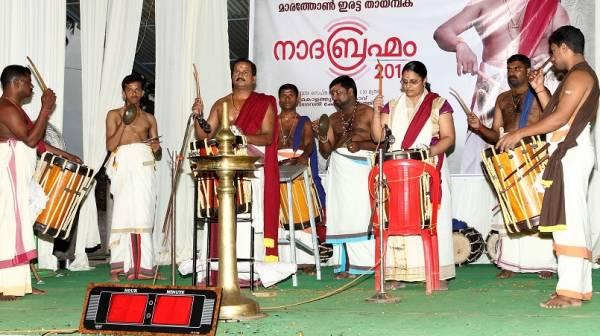 നാദബ്രഹ്മം നാലാംനാളിലേക്ക് : കൊളത്തൂരിലേക്ക് തായമ്പകക്കാരുടെ പ്രവാഹം