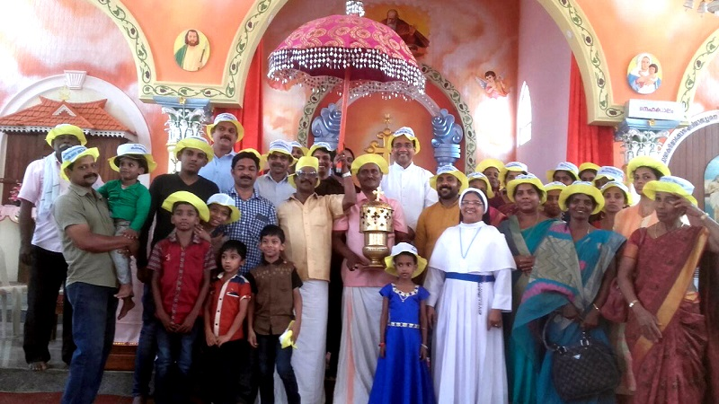 കനകമല കുരുശുമുടി 10-ാം ഘട്ട ദീപ പ്രയാണം ആരംഭിച്ചു