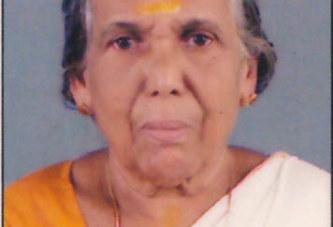 മനക്കുളങ്ങര വെട്ടിയാടന് വീട്ടില് പരേതനായ അയ്യപ്പന്റെ ഭാര്യ ശാരദ (92) അന്തരിച്ചു.