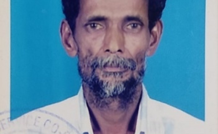 കലാനഗര് തൈനാത്തുടന് മാണിക്യന് മകന് കൊച്ചുണ്ണി (72 ) അന്തരിച്ചു.